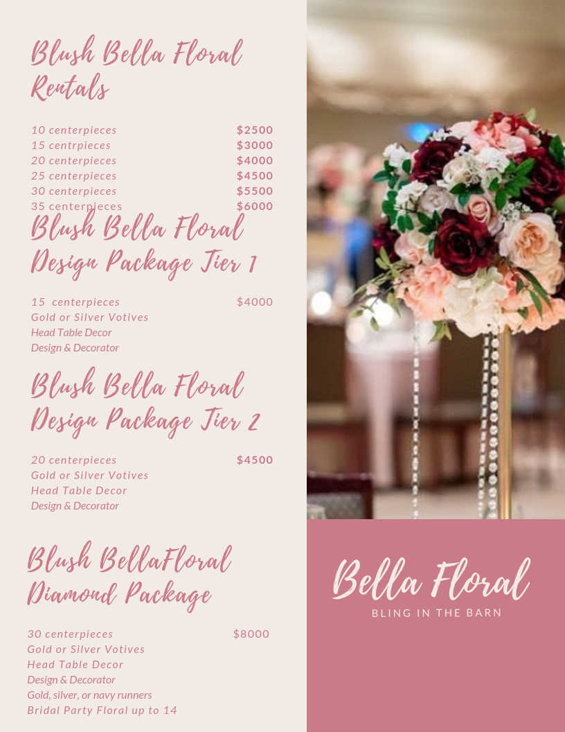 Bella Floral Centerpieces